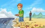 хлопчик і морські зірки